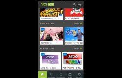 Aplikasi Njoi Now untuk tonton channel Astro di smartphone