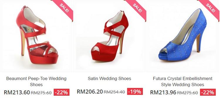 Beli kasut pengantin wanita yang cantik elegan di bawah harga RM200