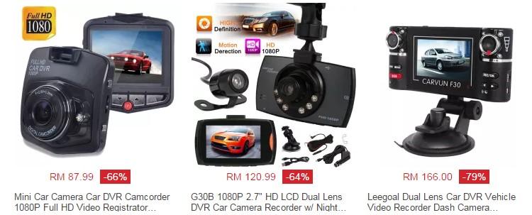 Beli perakam video kereta dashcam yang murah di internet melalui website Lazada Malaysia