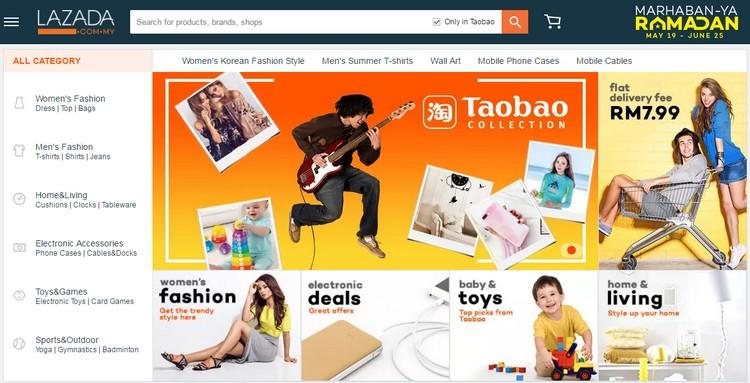 Beli produk dan barang murah Taobao online di website eCommerce Lazada Malaysia
