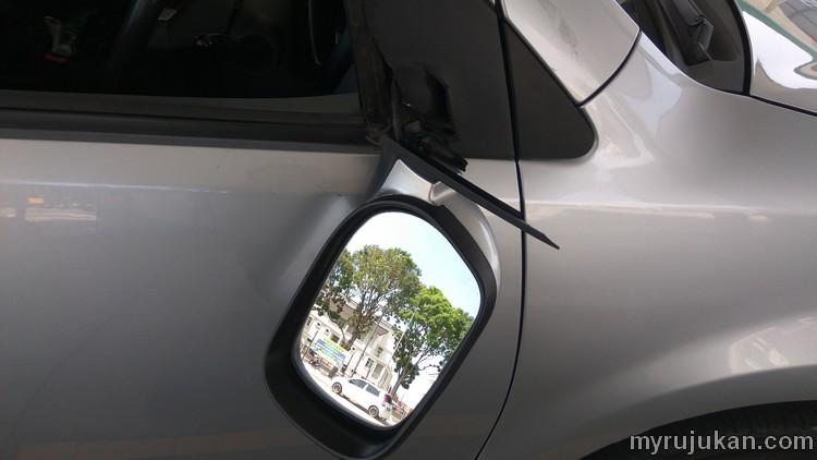 Side mirror Perodua Myvi patah