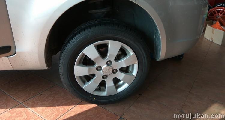 Tayar kereta jenama Bridgestone sesuai untuk Proton Saga BLM
