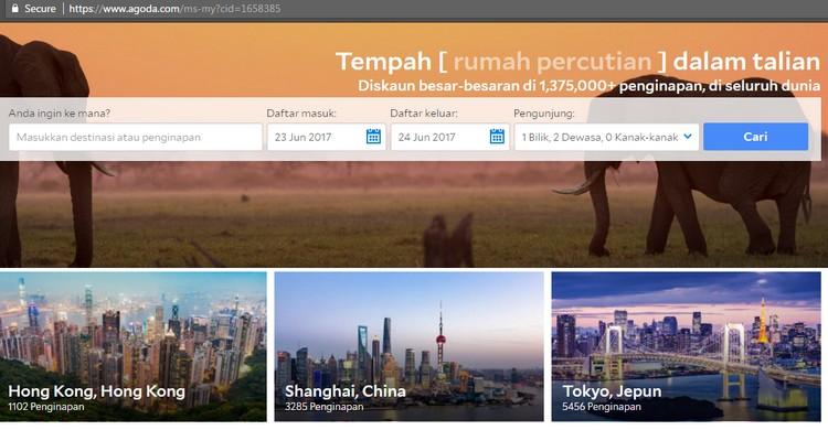 Agoda adalah salah satu website tempah bilik hotel yang paling bagus untuk pelancong