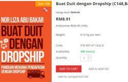 Buku buat duit dengan dropship untuk belajar jana pendapatan secara dropship