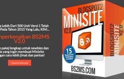 Cara paling pantas dan mudah untuk jadikan blogspot kepada minisite