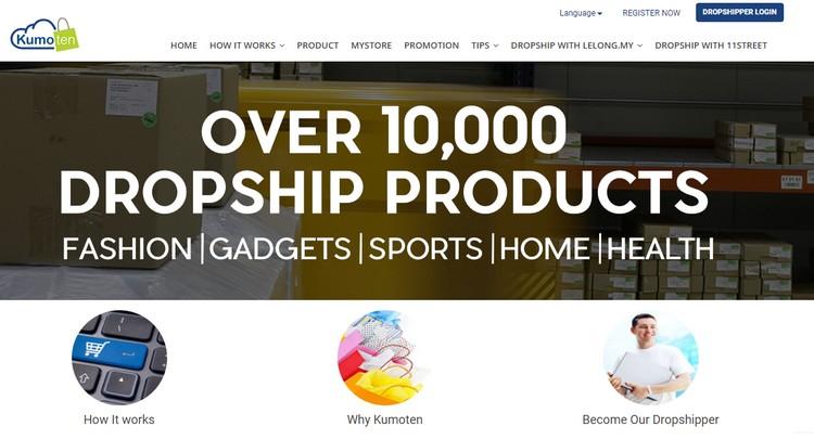 Kumoten adalah salah satu lubuk atau website supplier dropship Malaysia terbesar