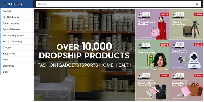 Laman website dropship terbesar di Malaysia