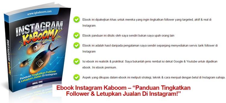 Panduan pemasaran produk fizikal untuk meningkatkan follower dan jualan di instagram