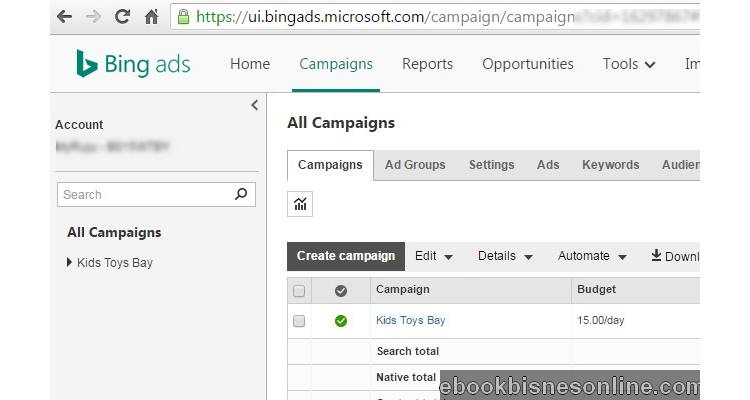 buat duit amazon dengan paid trafik dari Bing Ads
