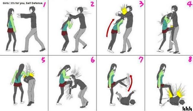 langkah langkah cara mempertahankan diri untuk wanita