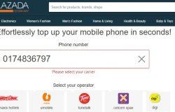 Beli topup online simkad prepaid mudah di website Lazada
