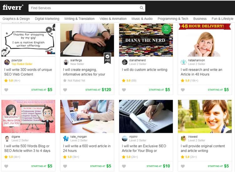 Peluang buat duit online dengan menawarkan khidmat servis Fiverr