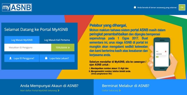 Website untuk mendaftar dan membuka akaun asb online