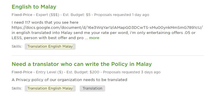 potensi pendapatan translator malay to english
