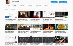 Akaun YouTube saya yang saya bina untuk jana earning dengan YouTube Adsense