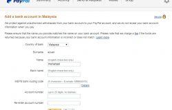 Cara add akaun bank tempatan Malaysia dalam akaun PayPal