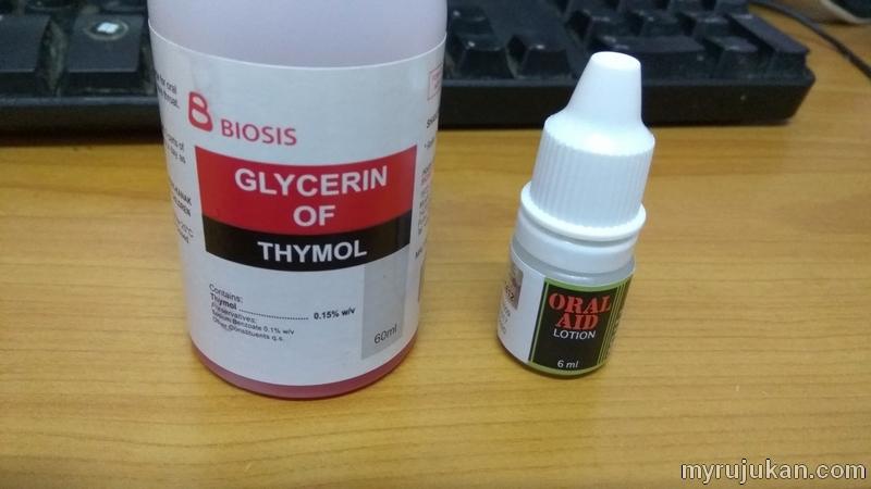 Ubat untuk ulser lidah yang saya beli di farmasi