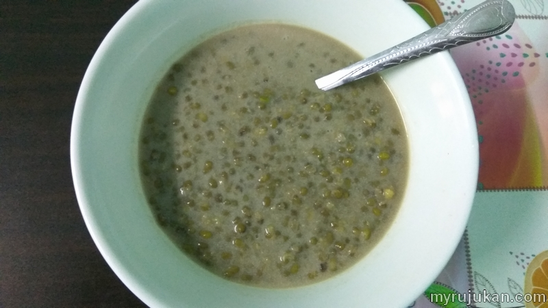 Menu hidangan bubur kacang hijau yang menyelerakan