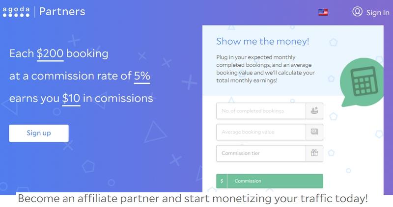 Potensi income buat duit dengan Agoda melalui program affiliate