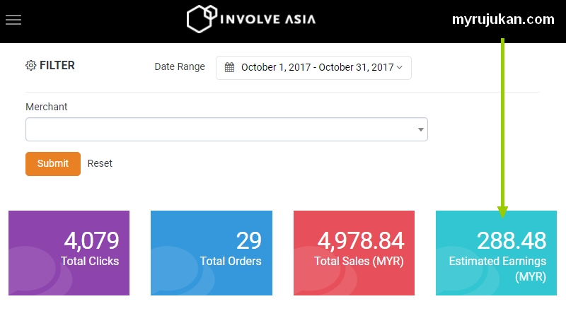 Income affiiate komisen Involve Asia october 2017