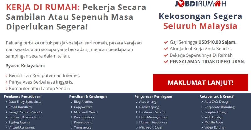 Sumber tawaran kerja data entry di rumah