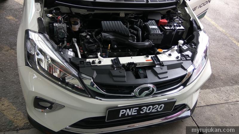 Bentuk sebenar gambar bahagian engin 1.5 Perodua Myvi 2018