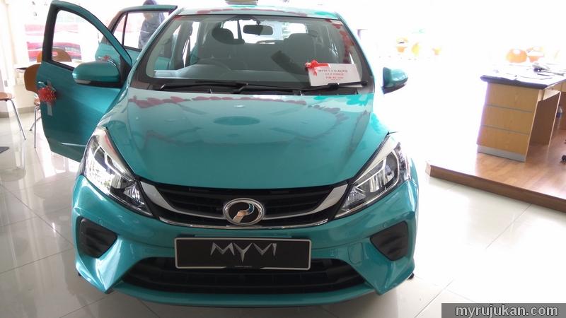 Perodua Myvi 2018 Dengan Warga Peppermint Green