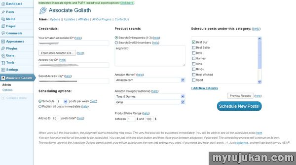 Plugin Auto Post Untuk Website Amazon