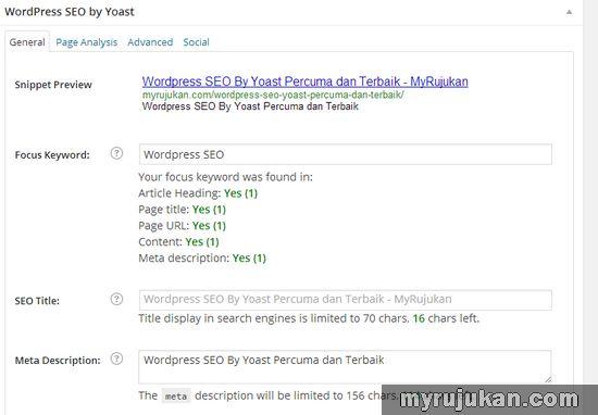 Basic Setting by WordPress SEO by Yoast