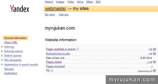 Dapatkan Trafik Dari Yandex Melalui Yandex Webmaster