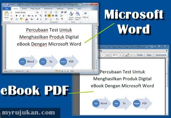 Cara Guna Word Untuk Buat File PDF (Membuat eBook)