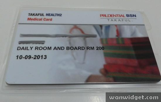 Insurans Peribadi Dari Prudential BSN Takaful - Medical Card