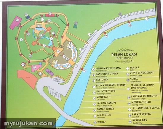 Peta Kawasan Melaka Bird Park
