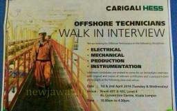 Contoh walk in interview dari Carigali Hess