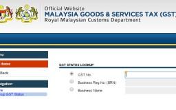 Laman web kastam untuk semak GST ID