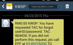 Permohonan Tac Nombor KWSP