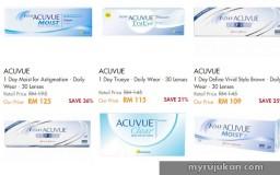 membeli produk penjagaan mata Acuvue secara online