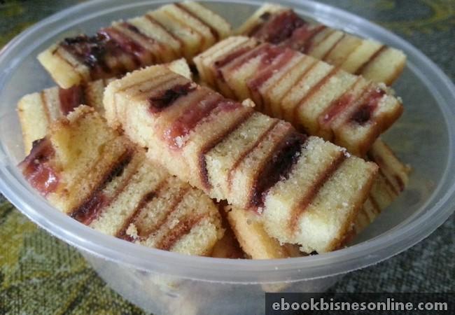 Gambar kek lapis blueberry cheese siap