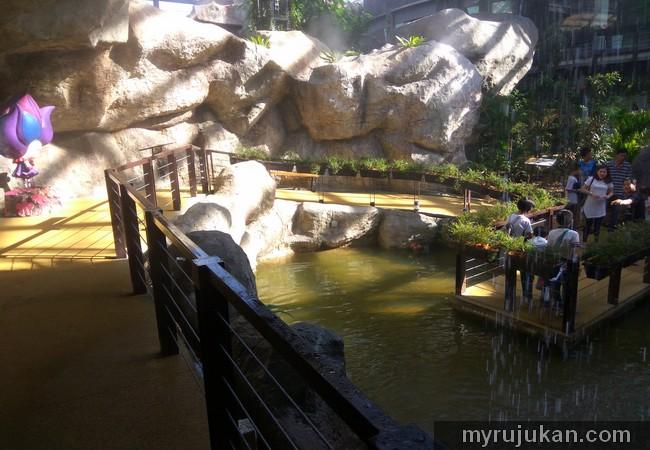 Kolam ikan di taman rama rama penang