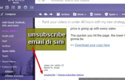 Cara unsubscribe email