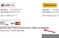 Contoh sistem pembayaran online Malaysia payment gateway dari SenangPay