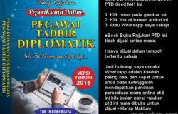 Pakej Buku rujukan PTD Untuk Peperiksaan Online Pegawai Tadbir Diplomatik