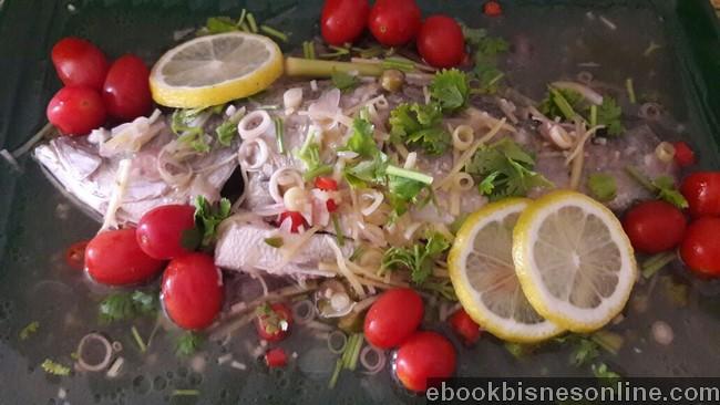 masakan ikan siakap masak stim