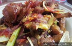 Hidangan masakan ayam masak sambal lado