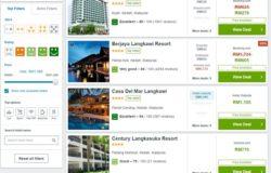 Buat perbandingan bilik hotel sebelum tempah booking secara online