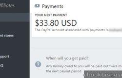 Hasil komisen pendapatan dengan affiliate Shopify