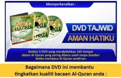 Beli dvd belajar tajwid untuk betulkan sebutan bacaan tajwid Al-Quran