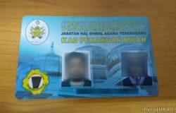Gambar dan bentuk sebenar kad perakuan nikah dari negeri Terengganu