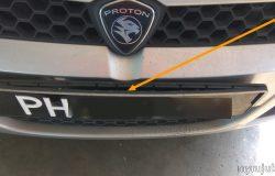 Keadaan nombor plat kereta saga blm yang sudah rosak