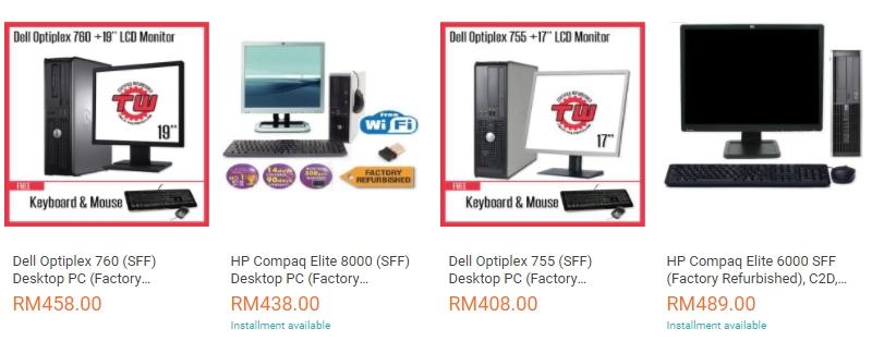 Anda boleh dapatkan komputer yang berharga murah di bawah RM500 di website Lazada Malaysia